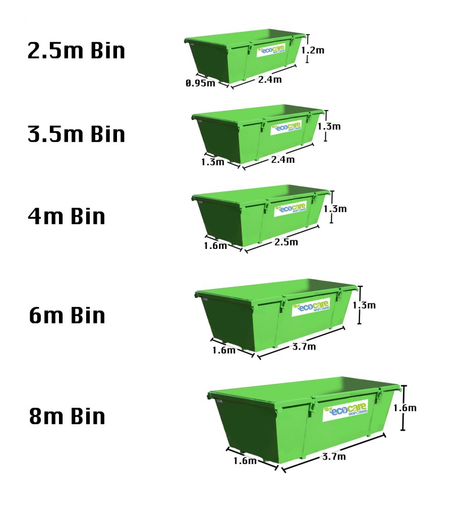 We have a range of Skip Bin Sizes to meet your skip bin hire requirements